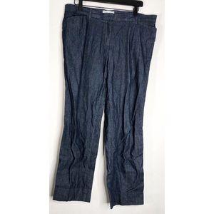 Gap slim croppped 12 dark blue trousers slacks